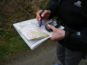 learning to use a GPS in North Wales