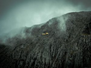 mountain rescue helicopter north wales