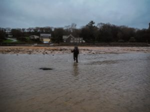Crossing streams at Red Wharf Bay