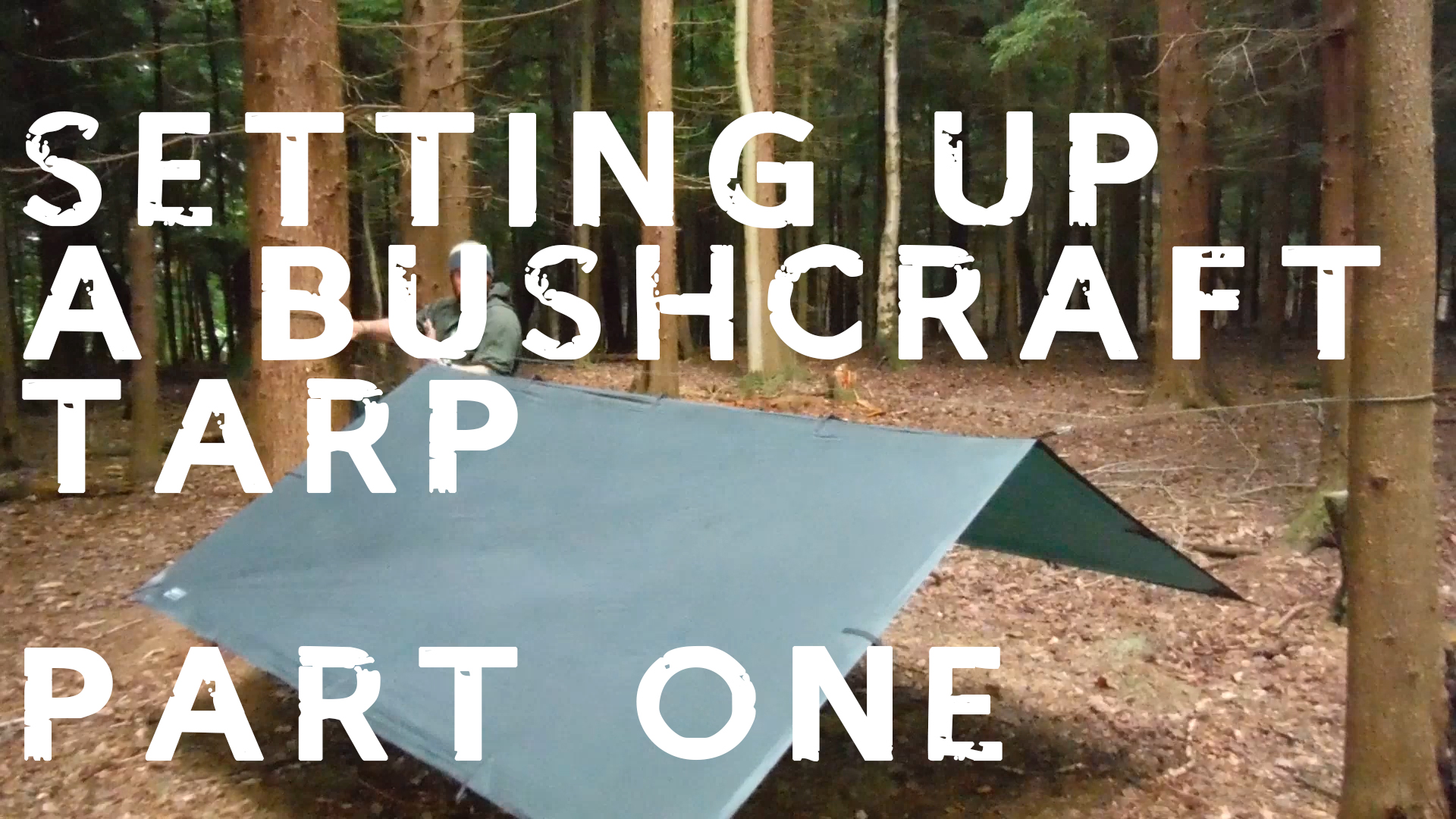 rigging a tarp for camping
