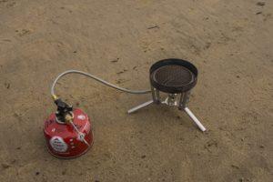 msr wind burner remote canister stove