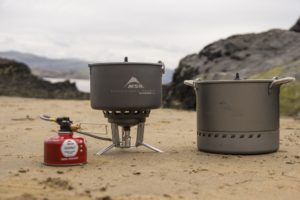 msr wind burner stove stock pot