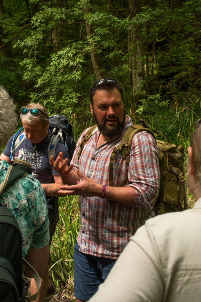 Foraging Instructor talking about plants UK