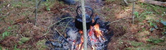 A fire, a tripod and a brew…