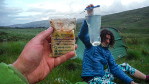 wild camping food