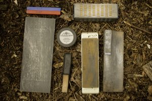 bushcraft axe and knife sharpening tools