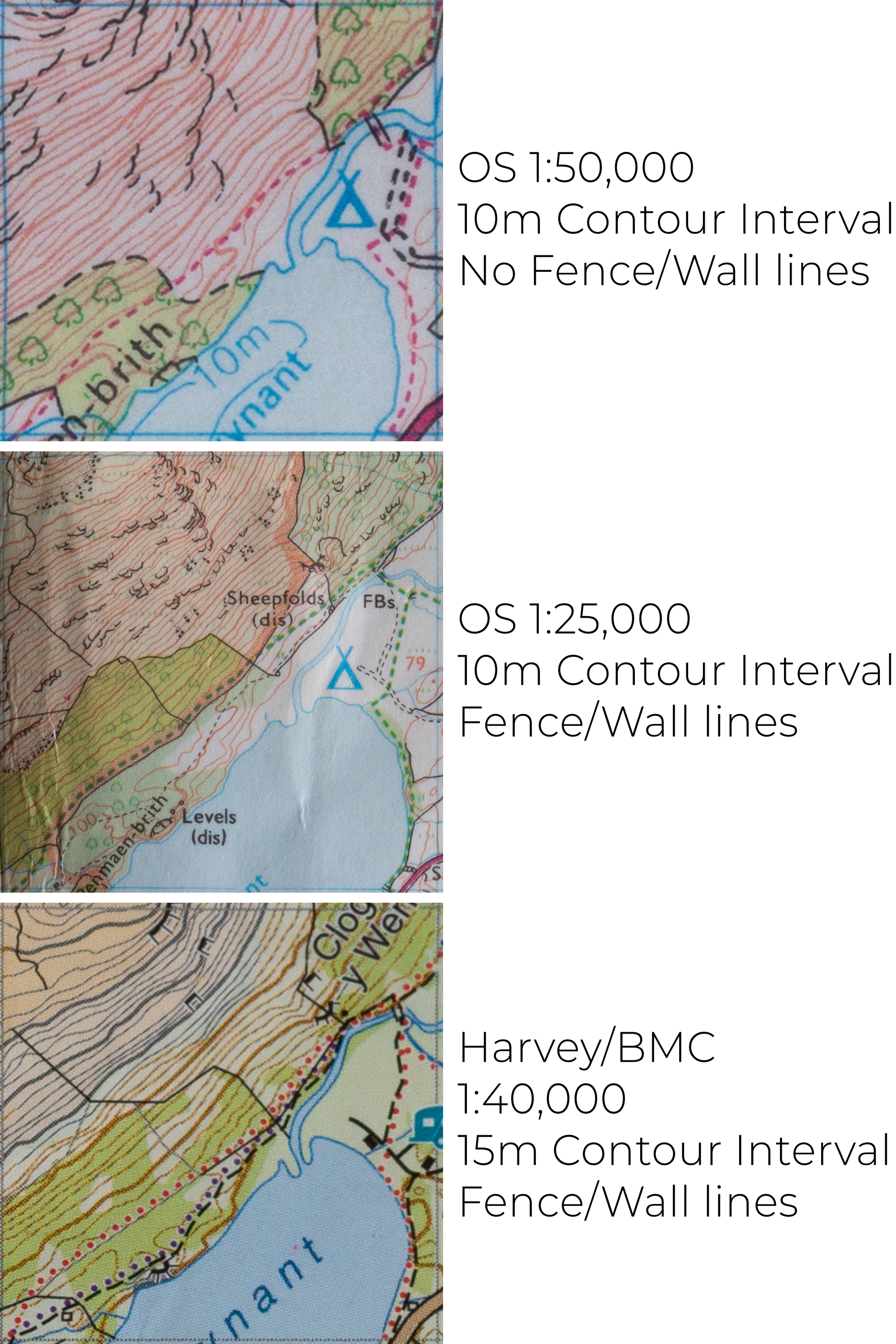 Map that shows fence lines uk