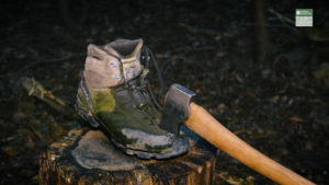axe in boot