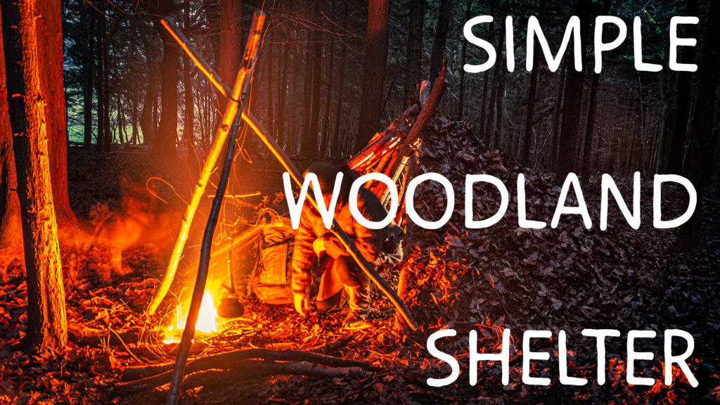 bushcraft shelter video