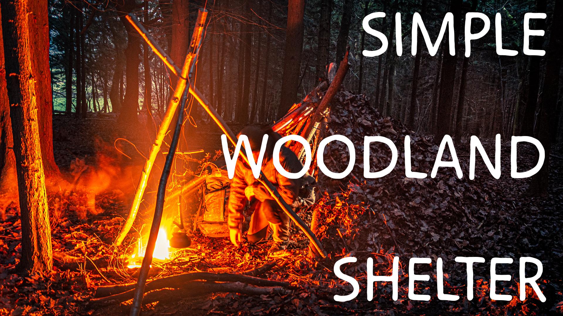 bushcraft shelter video